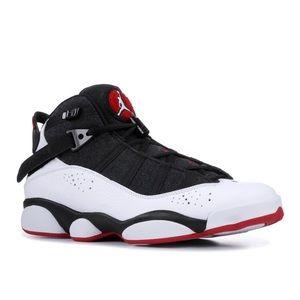 Jordan Shoes - Jordan 6 Rings Black White Gym Red
